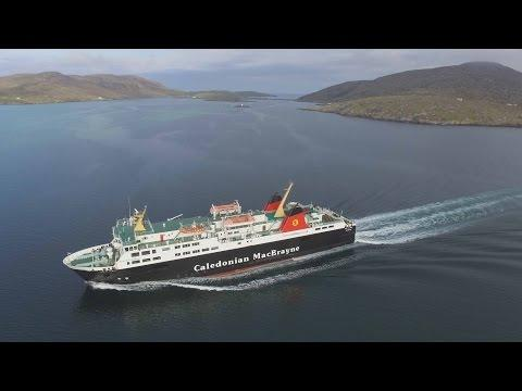 CalMac Ferry Isle Of Lewis Departing Barra Castlebay