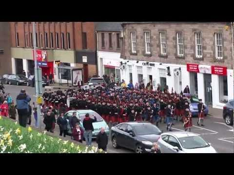 Cadet Force Pipes And Drums 2012 Inverness March On - Atholl Highlanders