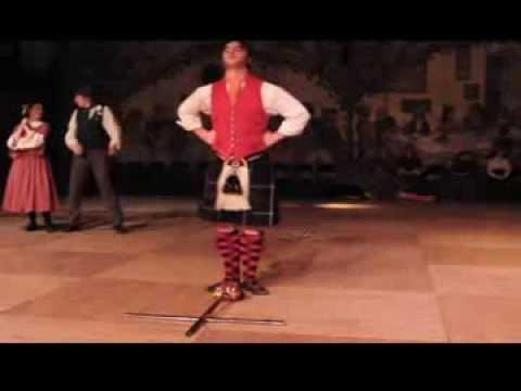 Awesome Male Scottish Sword Dance