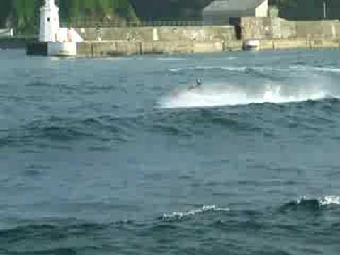 Wave Jumping Jetski In Wick Caithness Part 8