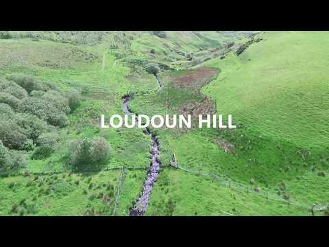 Flying Around Loudoun Hill In Scotland