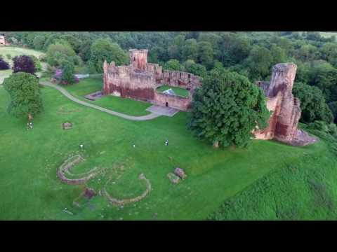 Bothwell Castle, Scotland - Aerial View