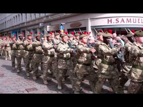 Scots Black Watch Homecoming Parade Dundee Scotland April 20th