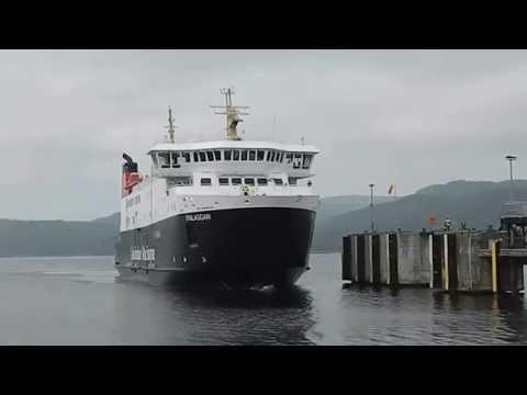 Calmac Finlaggan Islay Ferry Arrives Kennacraig Kintyre Scotland UK