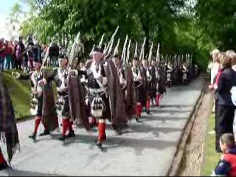 Atholl Highlanders Parade At Blair Castle, Scotland