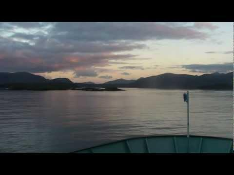 Dawn Ferry From Skye Arrives In The Isle Of Harris, Outer Hebrides, Scotland