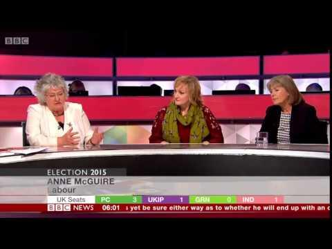 Carolyn Leckie And Anne McGuire, BBC Election 2015 Scotland