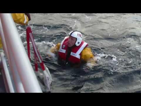 Wick Lifeboat Crew Practice Rescue Drill
