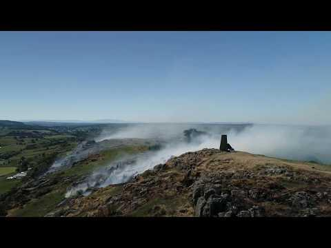 Loudoun Hill And A Small Fire