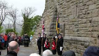 Battle of Arras Commemoration, Wallace Monument Poppy Cascade.