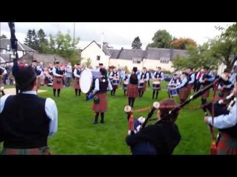 Konzertausschnitte Der Strathendrick Pipe-band - Drymen, Schottland.