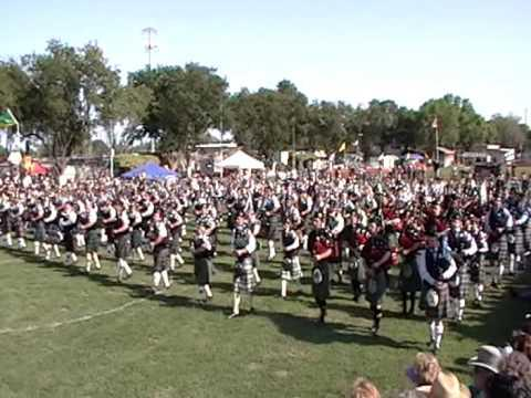 UC Riverside Pipe Band - Mass Band - Scotland The Brave
