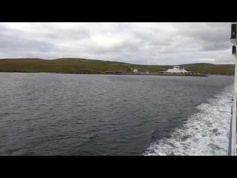 Onboard Shetland Islands Council Ferry - MV DAGALIEN - Leaving The Island Of Yell, Heading To Toft.