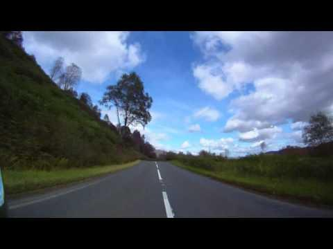 The Dukes Pass Aberfoyle Scotland Triumph Bonneville. Drift HD170 Stealth