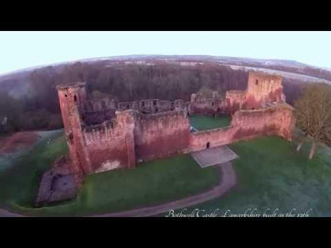 Aerial View Of Bothwell Castle, Scotland, 2015.