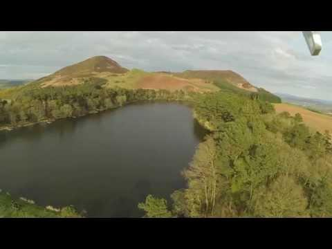 Aerial View Of The Eildon Hills In The Scottish Borders Near Melrose