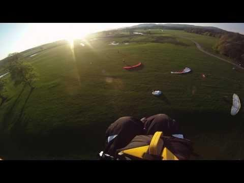 Powered Paragliding From Drymen Near Loch Lomond, Scotland