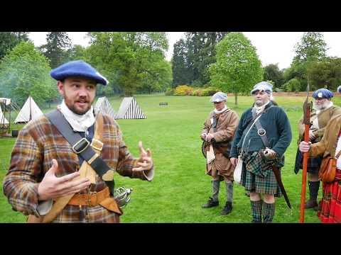 Meet The Jacobites - Highland Company Of 1745 Filmed At Crathes Castle, Scotland, May 2017