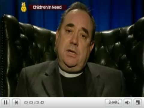 Salmond Is Jolly For 'the Weans' (BBC Scotland's Children In Need)