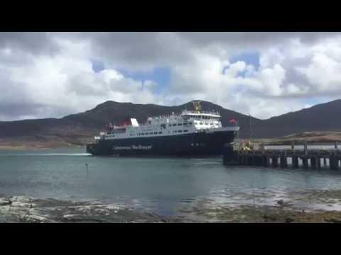CalMac Ferry Mv Hebrides At Lochmaddy - ScotVlog 67