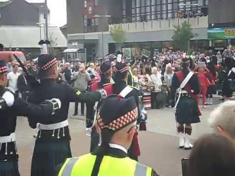 Argyll & Sutherland Highlanders Parade Port Glasgow 11/6/13