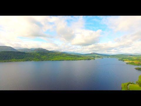 Loch Rannoch View From A Drone - Wild Camping Scotland