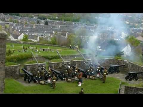 21-Gun Salute, Stirling Castle, 2012.