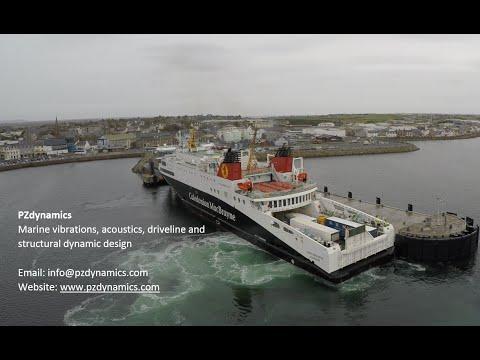 Epic Drone Action CalMac Ferry Mv Loch Seaforth By PZdynamics