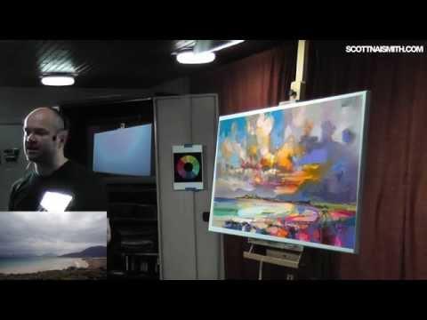 Live Painting Demo: Luskentyre, Isle Of Harris PART 1