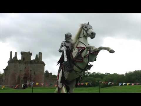 Spectacular Jousting At Caerlaverock Castle