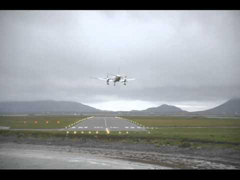 G-LGNH Arrives At Benbecula Airport With Flight BE6807 From Glasgow 03/08/14