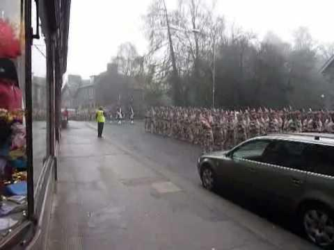 Black Watch Marching In Bank St Aberfeldy