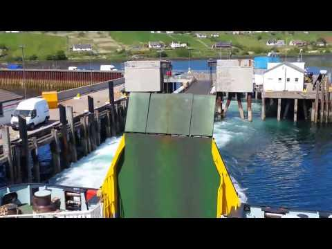 Uig, Isle Of Skye To Tarbet, Isle Of Harris, Calmac Roll On / Off Ferry, Boarding And Sailing
