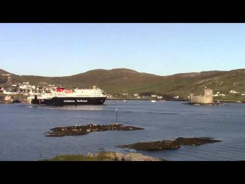 CalMac MV Clansman Arriving At Castlebay, Barra, Outer Hebrides