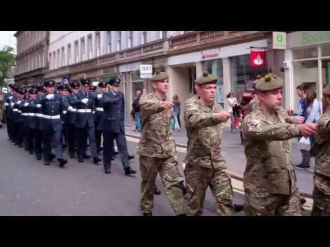 Armed Forces Day Parade Reform Street Dundee Tayside Scotland