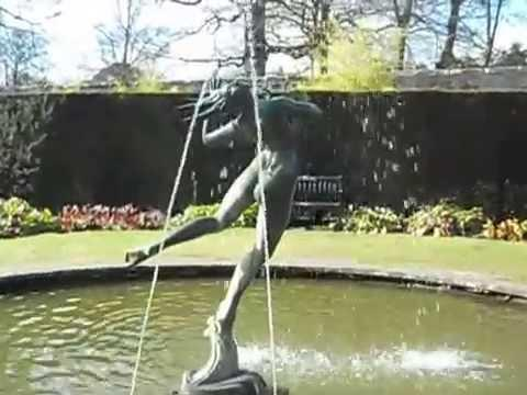 Foam, A Fountain And Sculpture At Greenbank Garden National Trust For Scotland In East Renfrewshire