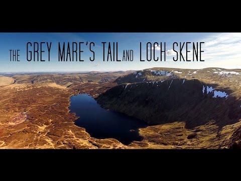 Grey Mare's Tail & Loch Skene, Moffat Scotland, An Aerial Tour