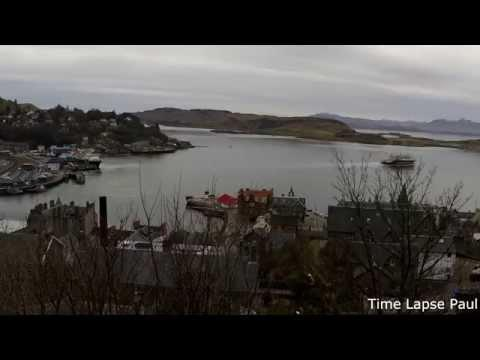 Oban Bay Watching The CalMac Ferries Go By - Time Lapse
