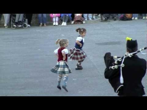 Cute Little Scottish Dancers