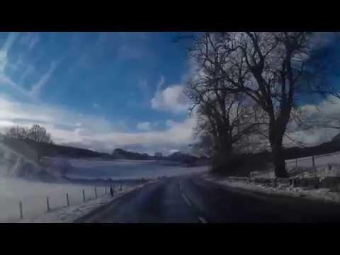 Winter Drive From Logierait To Aberfeldy Highland Perthshire Scotland