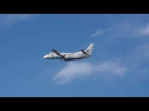 SAAB 340 Turboprop(Flybe) Is Taking Off From Benbecula Airport, Outer Hebrides-Scotland