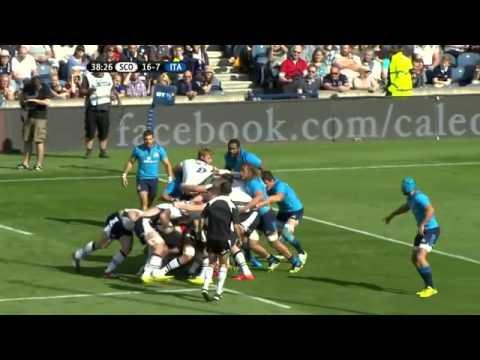 Scotland Vs. Italy - Rugby Highlights | International Test 29 August 2015