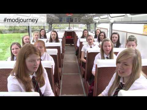 Girls Choir From Liniclate High School On Benbecula Sing At The Royal National Mod