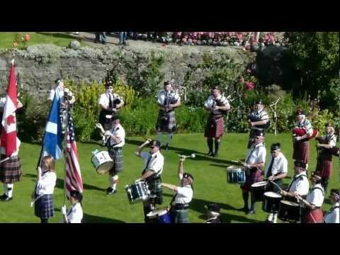 Can-Am Pipe Band At Stirling Castle