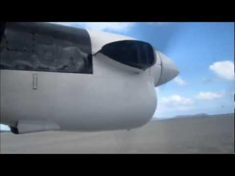 Barra Beach Airport. Takeoff + Few Clips From The Flight To Benbecula