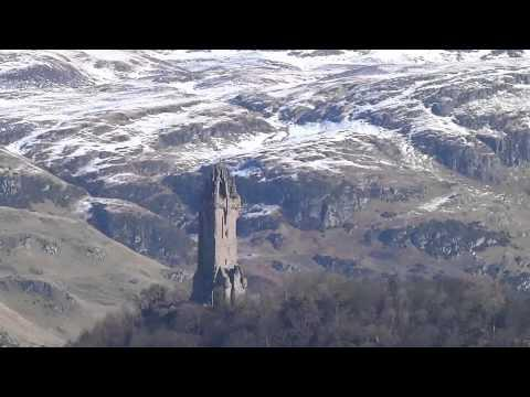 Winter William Wallace Monument Abbey Craig Stirling Scotland