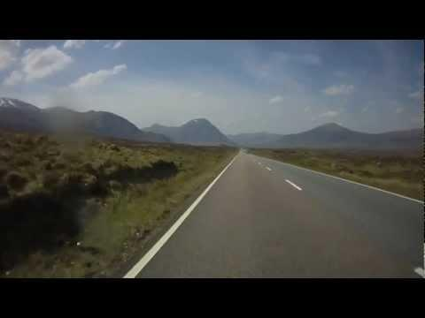 Scotland, Tyndrum To N Ballachulish  Via A82, Rannoch Moor, Pass Of Glencoe.  HD