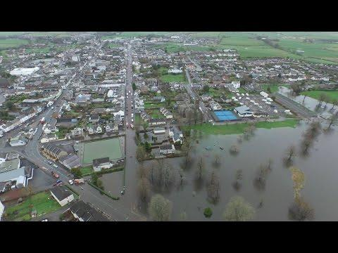Flooding In Castle Douglas - Drone Footage : 31st Dec 2015 [HD]