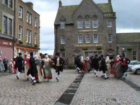 De Schermer Dansers At Market Square, Wick, Caithness 27 July 2007