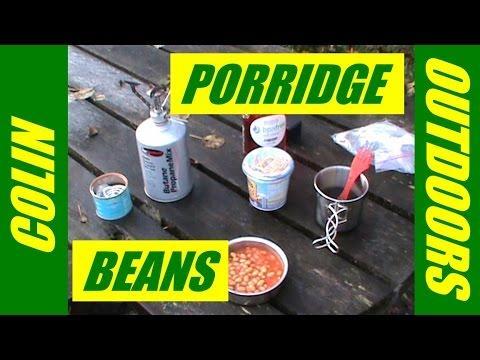 Outdoor Breakfast Porridge And Beans In Aberfoyle